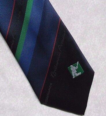 Collezione Qui Vintage Cricket Cravatta Da Uomo Cravatta Retro Garanzia Della Britannia-mostra Il Titolo Originale