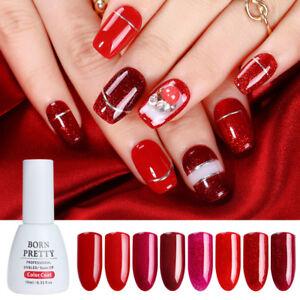 Image Is Loading 10ml Born Pretty Sparkle Glitter Red Uv Gel
