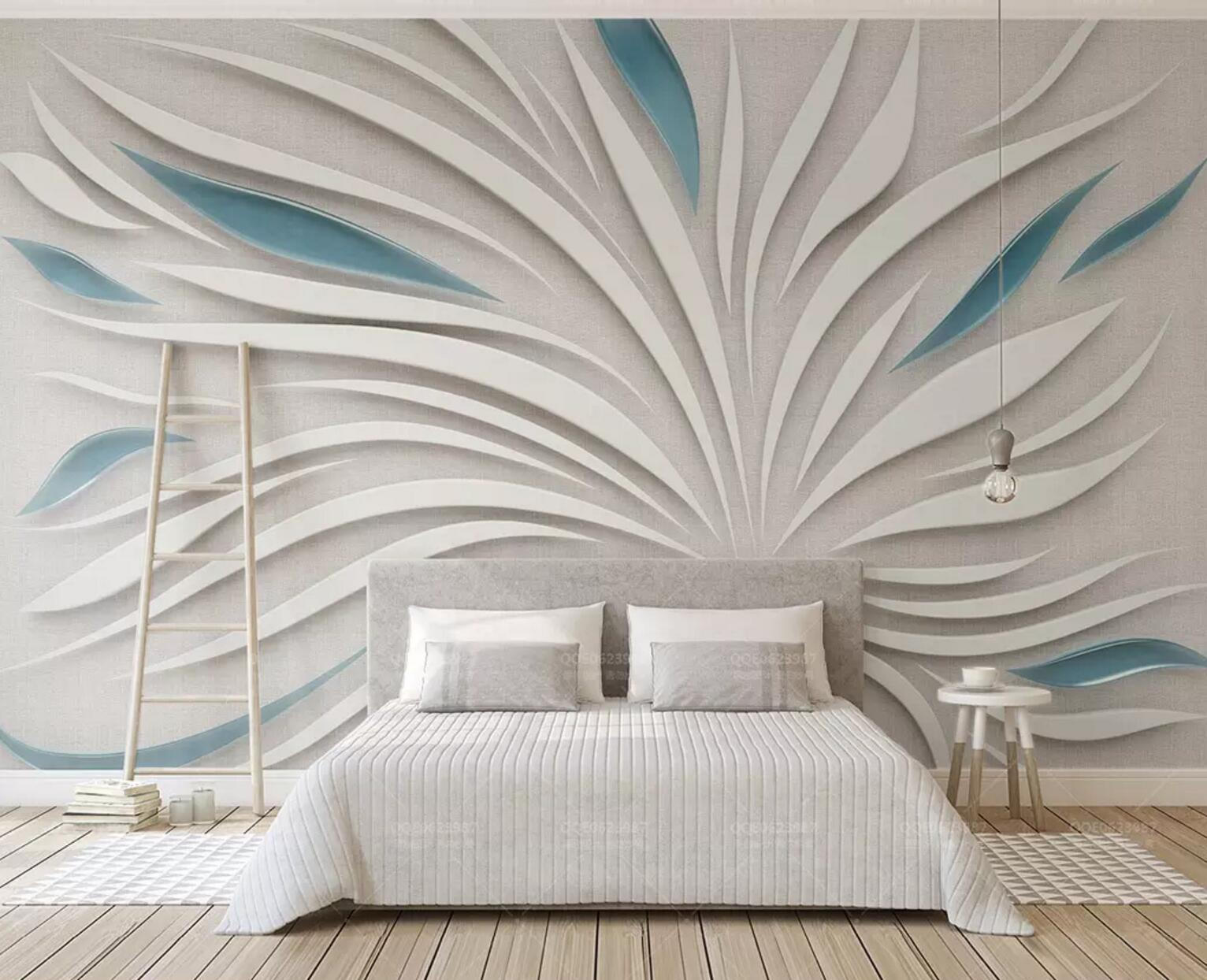 3D Vector Flower 8 Wall Paper Exclusive MXY Wallpaper Mural Decal Indoor Wall AJ