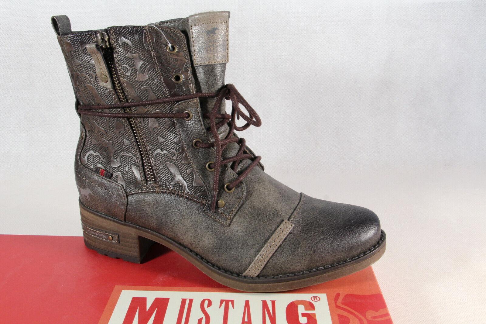 Mustang Stiefel Stiefeletten Stiefelette Schnürstiefel Stiefel cigar 1229 NEU