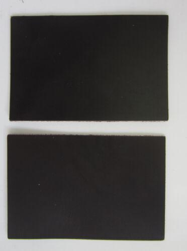 2 MORCEAUX CUIR VACHETTE CROUPON TANNAGE VEGETAL MARRON FONCE 3° CHOIX 15x10cm