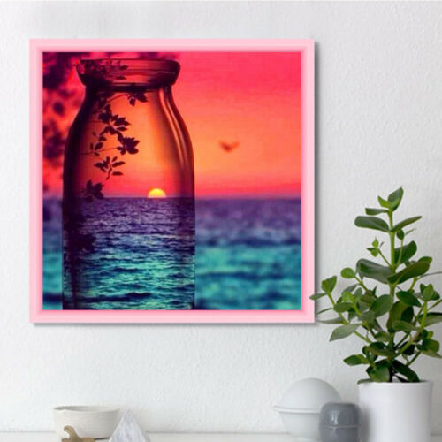 Diamond Painting Full 5D Drill Sunset Seascape Home Decor Gift Embroidery Art