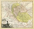 Historische Karte: Grafschaft Stolberg mit dem Harz 1736 (plano) von Erben Homann (2003, Mappe)