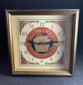 Vintage H.J. Heinz Co. Pickling & Preserving Pittsburgh, PA Wall Hanging Clock