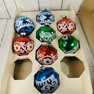 Vintage-Holly-American-Made-Glass-Ball-Glitter-Stencil-Christmas-Ornaments-258