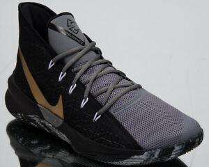 208adcc55c26a Nike Zoom Evidence III 3 Men's New Black Gold Basketball Sneakers ...