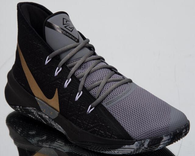 f40972782934b Nike Zoom Evidence III 3 Men's New Black Gold Basketball Sneakers AJ5904-006
