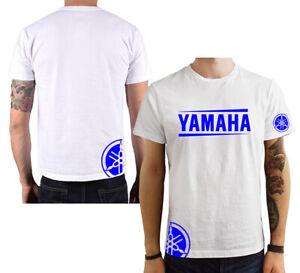 T-Shirt-Yamaha-moto-gp-uomo-maglia-maglietta-100-cotone-nera-bianca-blu