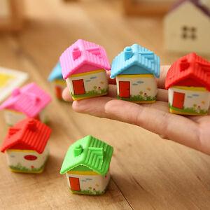 2pcs-Novelty-Cute-House-Rubber-Pencil-Eraser-Stationery-Children-Kids-Toys-Gift