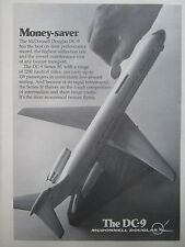 1/1977 PUB MCDONNELL DOUGLAS AIRCRAFT AVION DC-9 AIRLINER MODEL ORIGINAL AD