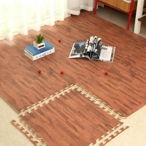 Image Is Loading 9pc Brown Interlocking Eva Foam Mats Floor Baby