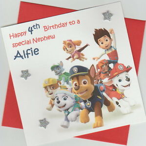 Image Is Loading Personalised Handmade Paw Patrol 1st 2nd 3rd 4th