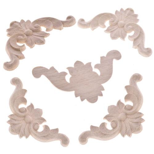 Lots 1//5//10pcs Wood Carved Corner Frame Applique Home Furniture Cabinet Decor