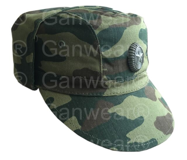 Genuine Russian Army Military Woodland Camouflage Field Uniform Cap Hat Badge