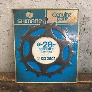 Vintage-Shimano-28t-Sprocket-Skip-Tooth-28-Tooth-Freewheel-123-2802-NEW-NOS