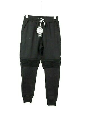 Just Hype Cropped Ridged Knees Black Joggers Size M Cr096 Ii 05 Schrumpffrei