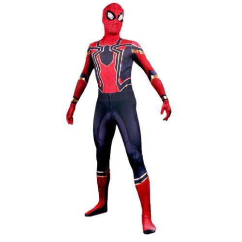 Adult Kids Men Iron Spider man Costume Avengers Infinity War Cosplay Fancy Dress