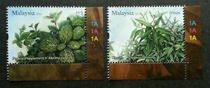 SJ-Aromatic-Plants-Malaysia-2012-Tree-Flower-stamp-plate-MNH