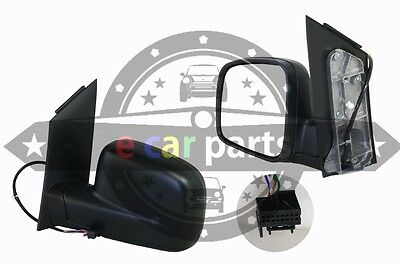 VW VOLKSWAGEN CADDY 2K 2//2005-7//2010 LEFT SIDE DOOR MIRROR ELECTRIC BLACK