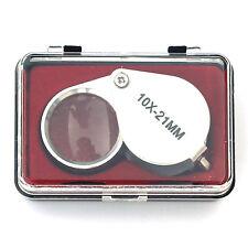 10x 21mm Vergrößerung Einschlaglupe Okular Lesehilfe Perlen Juwelen Faltbar Lupe