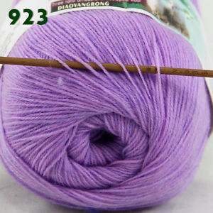 Sale-1-Skein-x50gr-LACE-Soft-Crochet-Acrylic-Wool-Cashmere-hand-knitting-Yarn-23