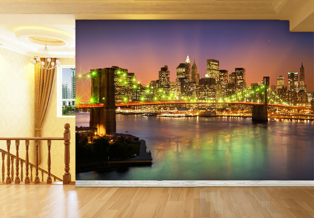 3D Grün Light Bridge 74 Wall Paper Murals Wall Print Wall Wallpaper Mural AU