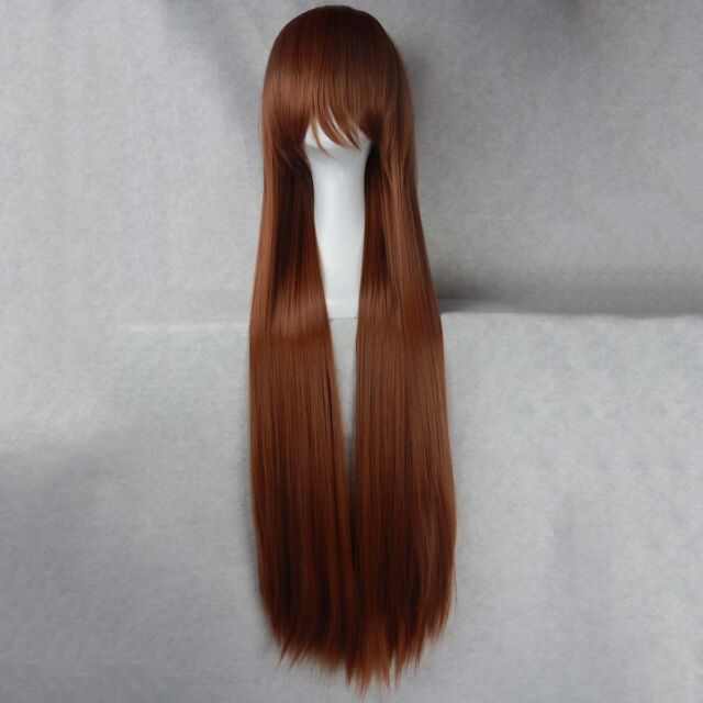 "Women Fashion 100CM/39"" Long straight Cosplay Fashion Wig heat resistant Fiber"