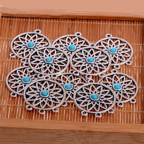 10PCs Tibetan Silver Beads Charms Jewellery Making Crafts Pendants
