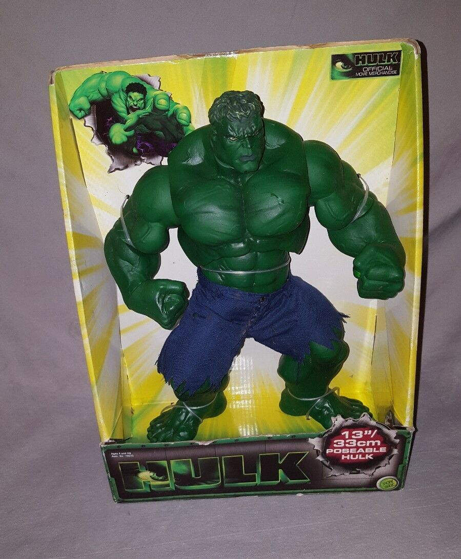 THE HULK 13  33cm Poseable Official Movie Merchandise Toy Biz Marvel 2003 NIB