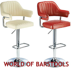Retro 1950 S Style Aviator Bar Stool In Five Colours Ebay