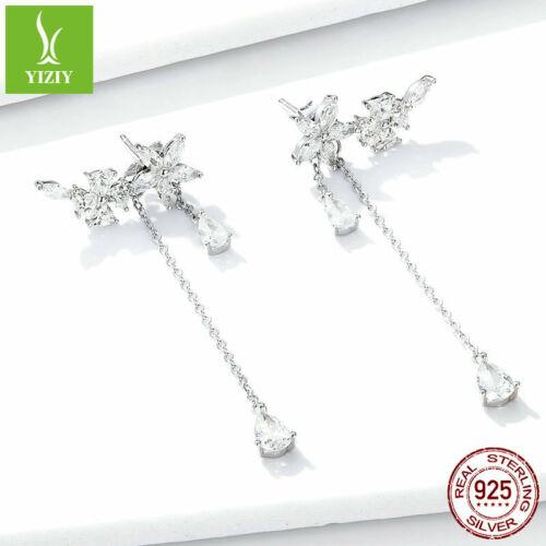 Authentic 925 Sterling Silver Blossom Earrings For Fashion Elegant Women Girls