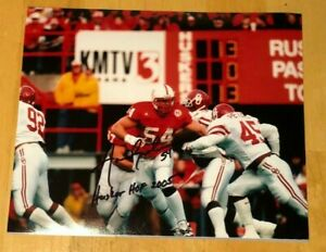 NEBRASKA-FOOTBALL-AARON-GRAHAM-54-SIGNED-PHOTO-HUSKER-HOF-2005-OKLAHOMA-FOOTBAL