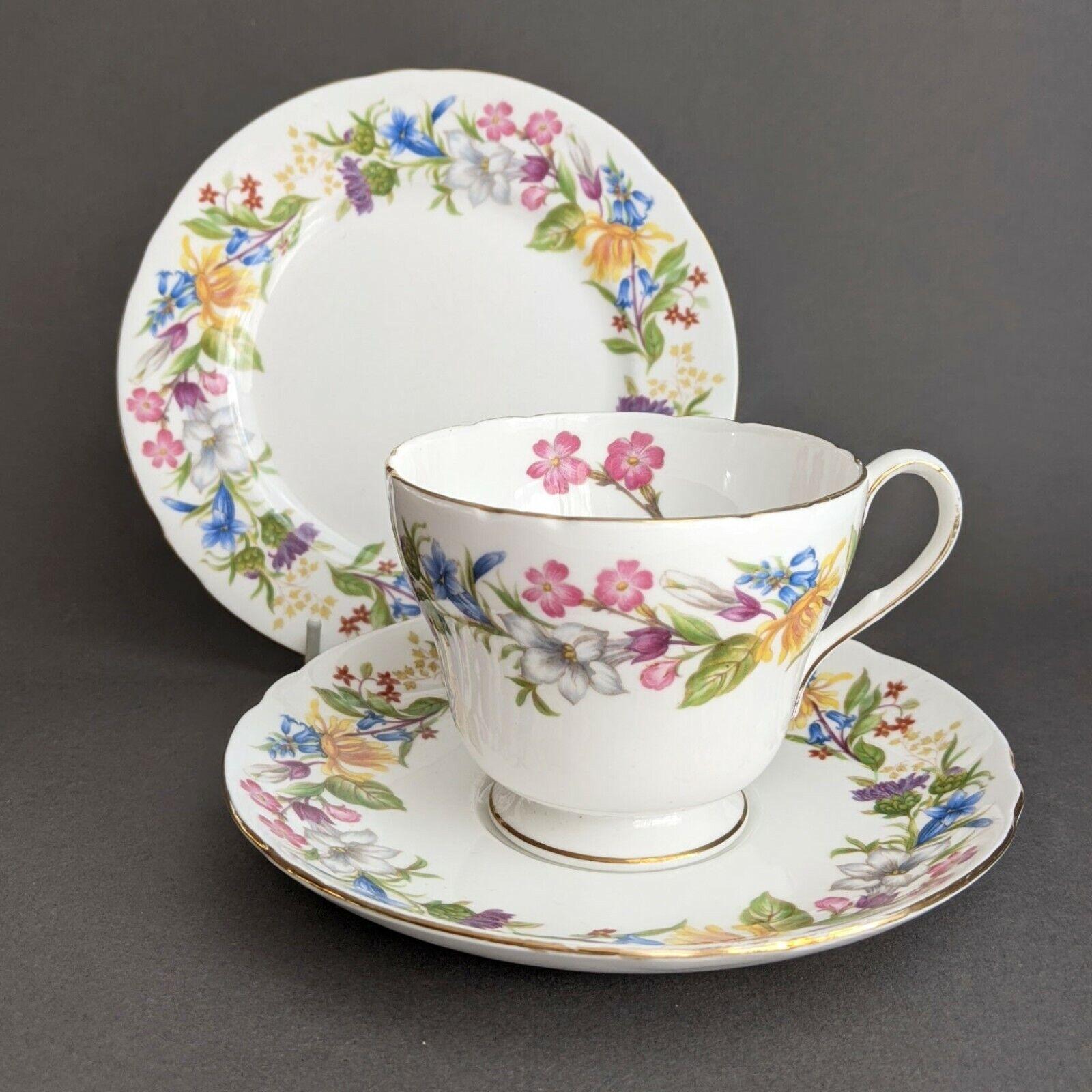 Image 1 - Shelley Spring Bouquet Tea Trio (Tea Cup, Saucer, Side Plate)