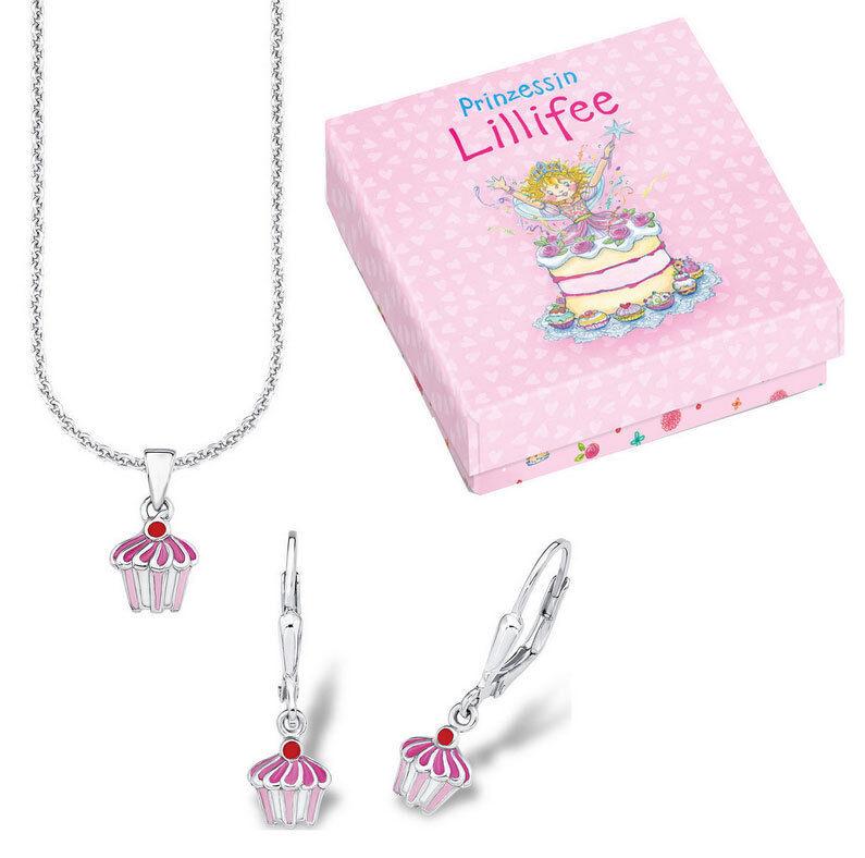 Prinzessin Lillifee Set de bijoux   Cupcake   515900 plfs   29 silver 925