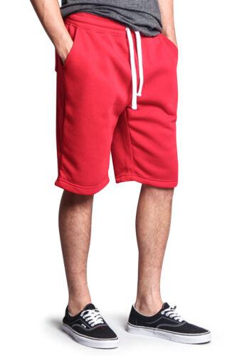 Men/'s jogger Fleece Basic Workout active Sweat Short Pants      18121-1586S-F10H
