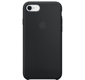 iPhone-8-7-SE-4-7-Apple-Echt-Original-Silikon-Schutz-Huelle-Schwarz