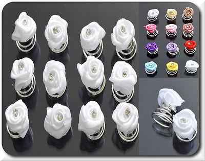 Colto Set 6 O 12 Curlies Capelli Eliche Fiori Strass 11 Colori Sposa Comunione- Alta Qualità E Basso Sovraccarico