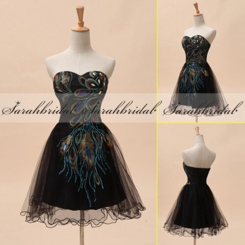 Short Girls Prom Cocktail Embroidery Ball Gown Blue Homecoming Party Dresses 2 4