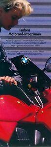 Automobilia Aufrichtig Bmw Motorrad Farben 9/86 Broschüre Lackierungen Lacke 1986 Deutschland Brochure Elegantes Und Robustes Paket Sammeln & Seltenes