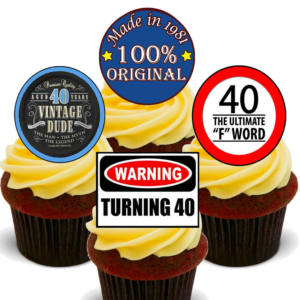 # Stand Up Cup Cake Toppers Edible Birthday Party Decorations