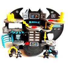 Fisher Price Pre School IMAGINEXT BATMAN BATCAVE BATBIKE + BANE toy figure set