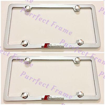 2X Jaguar 3D Emblem Stainless Steel License Plate Frame Rust Free W// Boltcap
