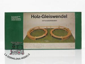 NOCH-53003-LA36423-HOLZ-GLEISWENDEL-H0-Bausatz-R-360-420-RAMPA-DE-SUBIDA
