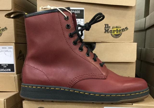 Dr Martens New Men/'s 14 Pascal Leather Combat Boot Temperley Cherry Red