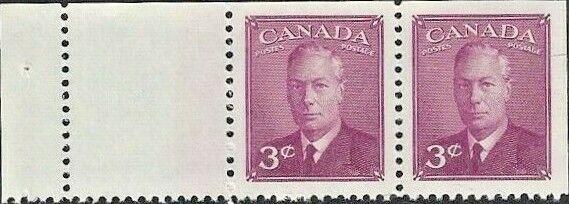Canada # 286b  KING GEORGE VI   POSTES - POSTAGE   Brand New 1949 Pristine Issue