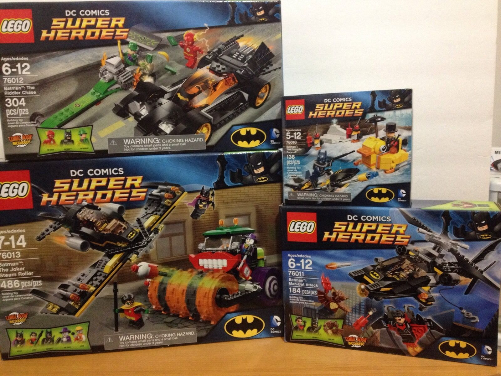 Lego DC Comic Batman 76010, 76011, 76012, 76013 set of 4 RETIROT