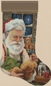 Christmas Stocking Cross stitch chart  Father Christmas 2 FlowerPower37UK - kings lynn, Norfolk, United Kingdom - Christmas Stocking Cross stitch chart  Father Christmas 2 FlowerPower37UK - kings lynn, Norfolk, United Kingdom