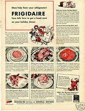 1943 GM General Motors Frigidaire Refrigerator Holiday Dinner Print Ad