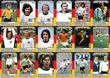 West Germany 1974 World Cup winners football trading cards