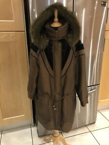 Condition 14 Gold By Fur Excellent Khaki Vintage 90s Trim Hood Parka 16 Telemac wfaBTUHxq